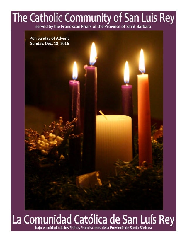 mslrp parish bulletin for 4th sunday of advent 12 18 2016. Black Bedroom Furniture Sets. Home Design Ideas