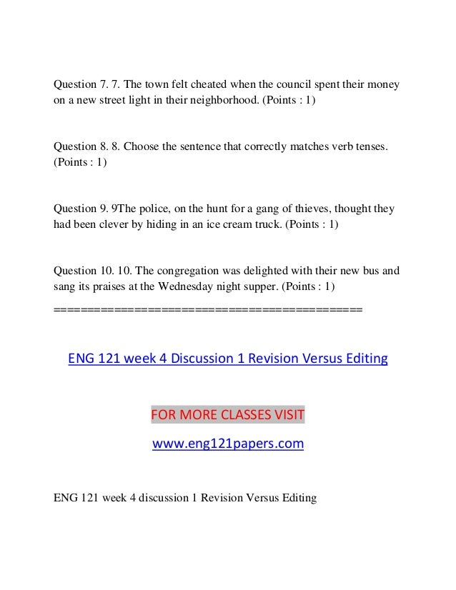 eng 121 week 1 discussion 1