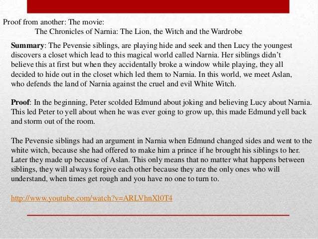summary essay of the lion the witch and the wardrobe Transcript of the lion, the witch, and the wardrobe summary main characters protagonists characters the pevensies: peter, susan, edmund.