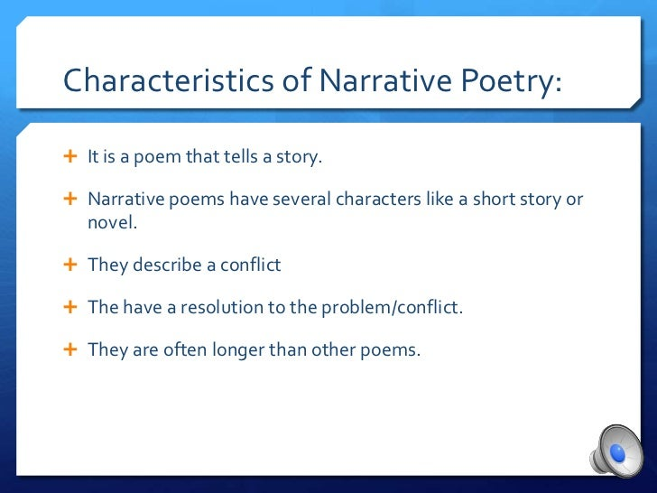 narrative poem examples - photo #31