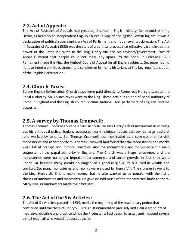 Religious settlement of Henry VIII and Elizabeth I Slide 2