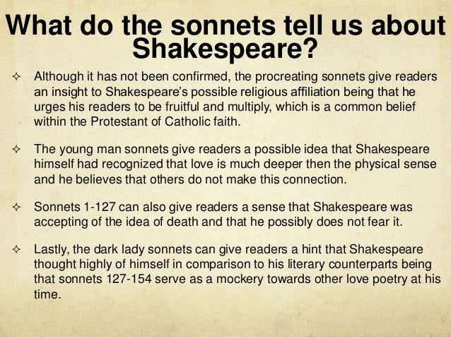 shakespeares sonnets 12 73 essay Sonnet 12 meaningthe toll or tick of a clock, the setting sun, withering flowers , falling leaves, the autumn harvest all make me aware of the passing of time sonnet 73 meaningin this sonnet, shakespeare–though young when he wrote it–assumes the persona of an old man reflecting on his advancing age here is.