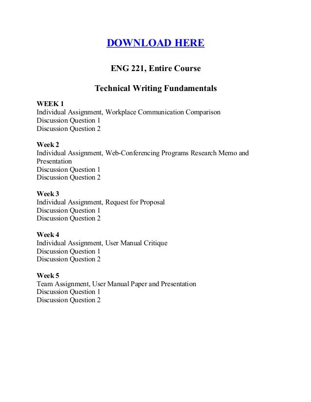 eng 221 2 3 page critique of the user manual