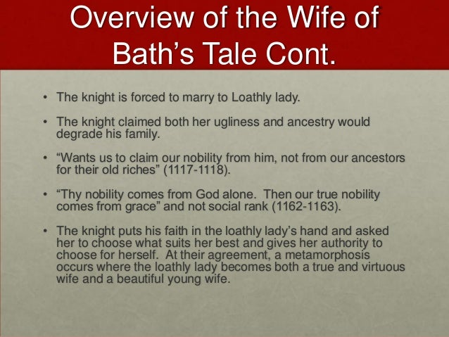 sparknotes canterbury tales wife of bath
