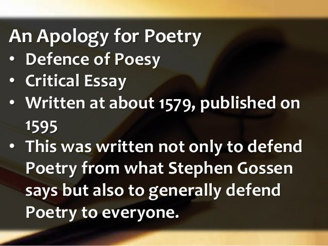 analysis of defense of poetry Learn all about this multifaceted elizabethan celebrity and his massive effect on the worlds of poetry  sidney's careful analysis  philip sidney and the defense.