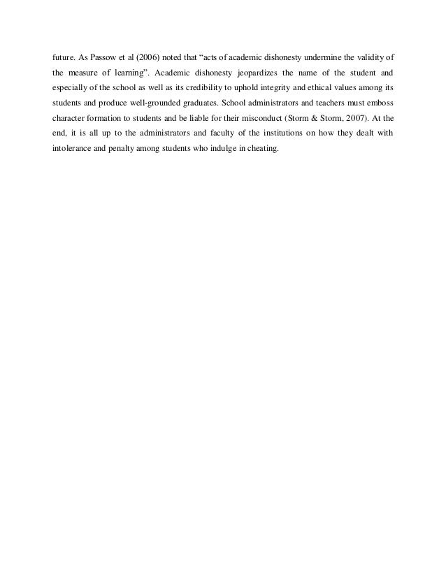 Academic cheating research paper