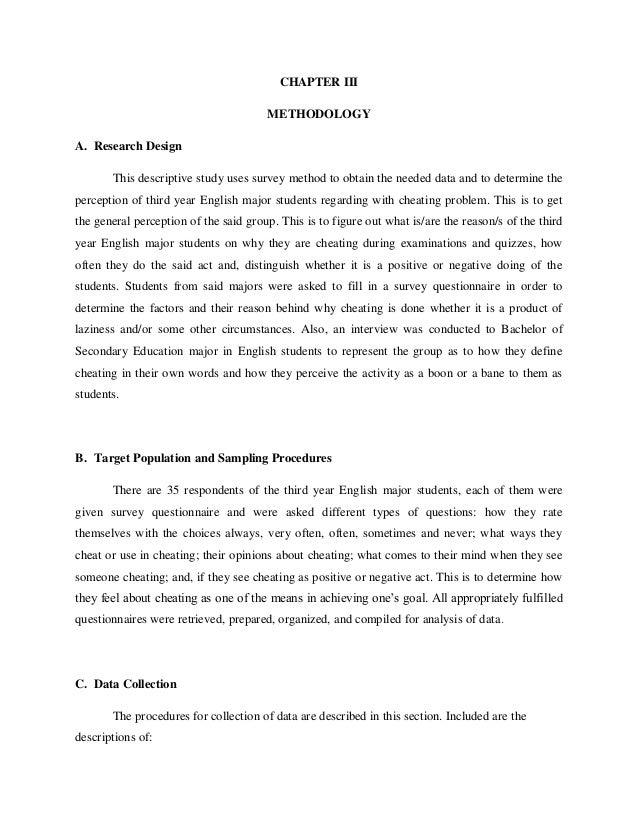 methodology term paper