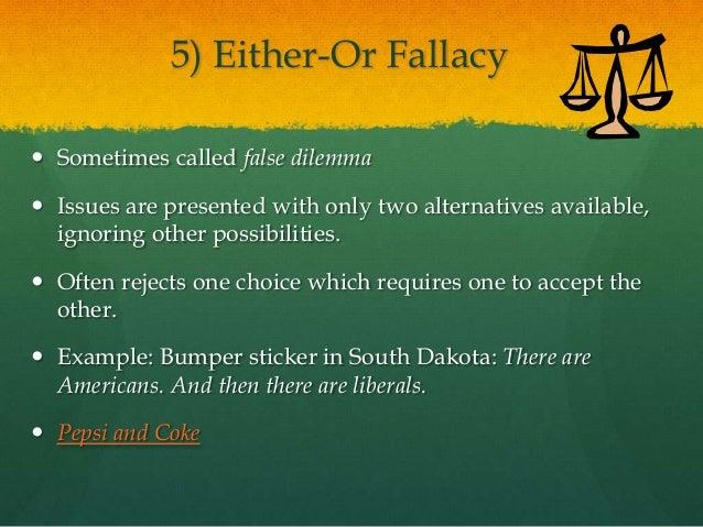 False dilemma examples yahoo dating