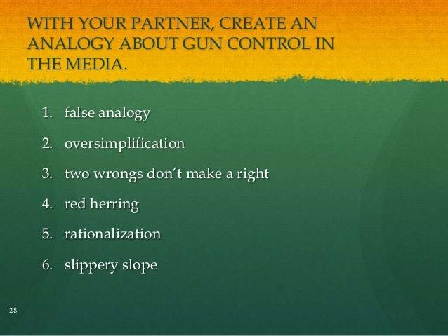 how to avoid false analogy