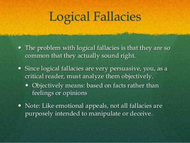 List of fallacies