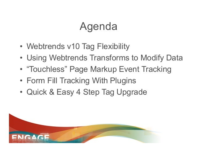 Engage 2013 - Why Upgrade to v10 Tag Slide 2
