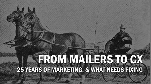 FROM MAILERS TO CX 25 YEARS OF MARKETING, & WHAT NEEDS FIXING