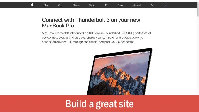 Build a great site