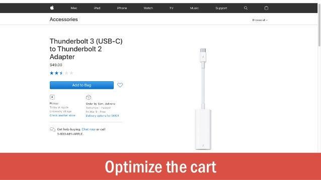 Optimize the cart