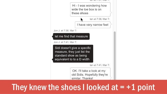 They knew the shoes I looked at = +1 point