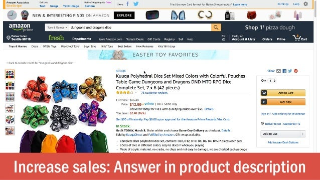 Increase sales: Answer in product description