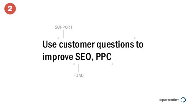 @portentint Use customer questions to improve SEO, PPC SUPPORT FIND 2