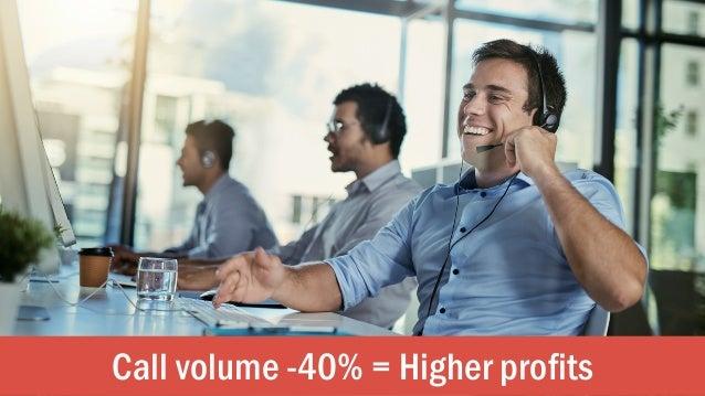 Call volume -40% = Higher profits