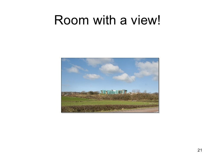 Room with a view!