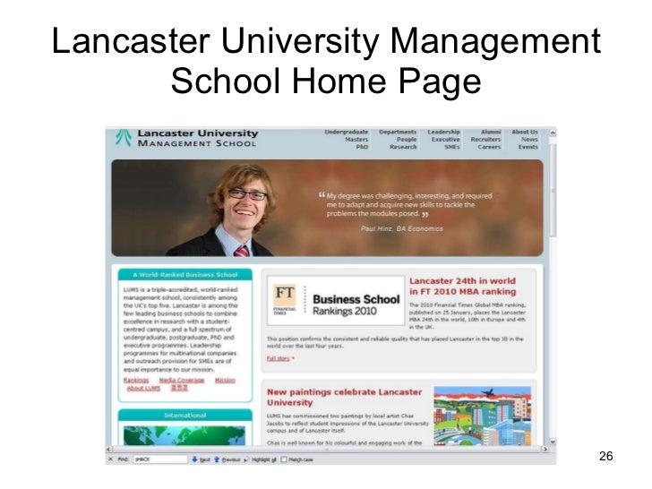 Lancaster University Management School Home Page