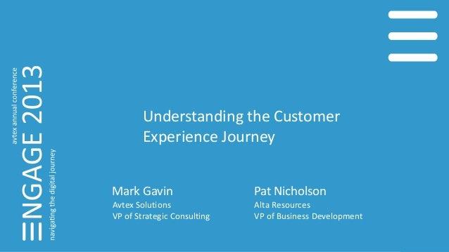 Understanding the Customer Experience Journey Pat Nicholson Alta Resources VP of Business Development Mark Gavin Avtex Sol...