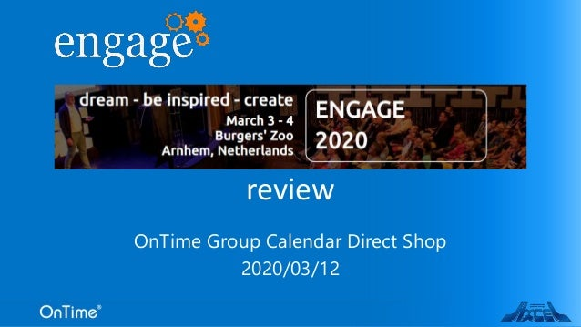 OnTime Group Calendar Direct Shop 2020/03/12 review