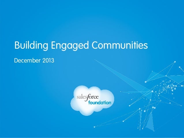 Building Engaged Communities December 2013