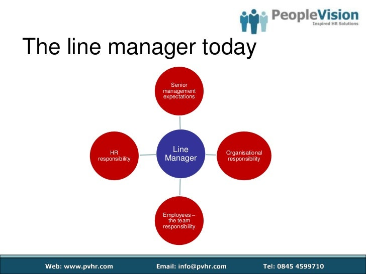 management and first line manager As the interface between an organisation and its front-line workforce, line management represents the lowest level of management within an organisational hierarchy (as distinct from top/executive/senior management and middle management) a line manager is an employee who directly manages other.