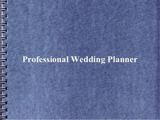 Professional Wedding Planner