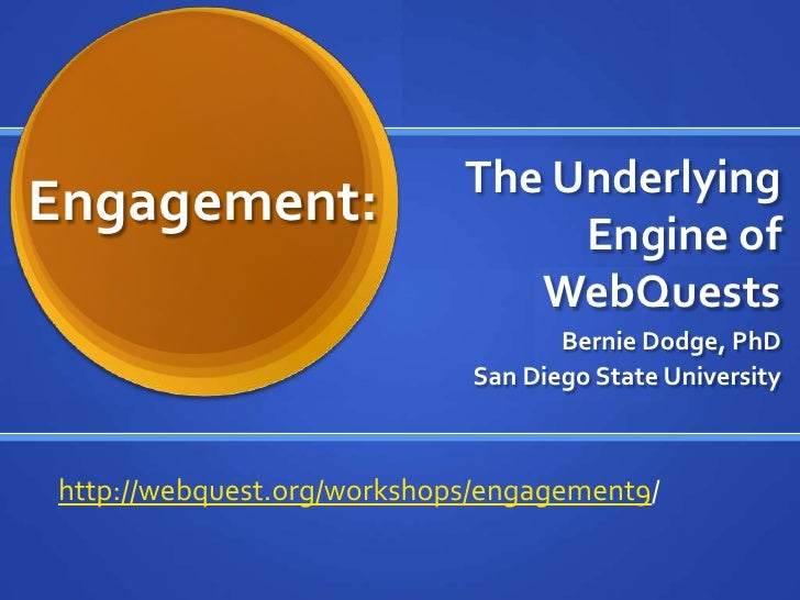 Engagement: The Underlying Engine of WebQuests