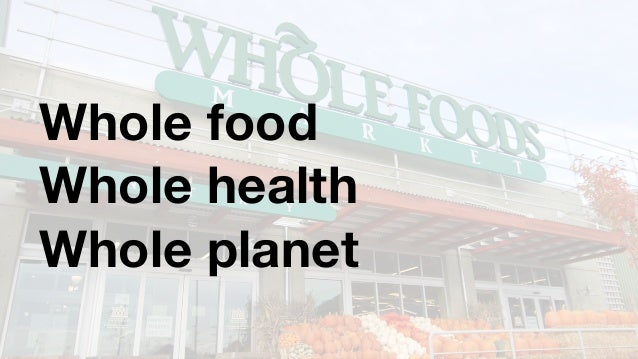 Whole Foods Healthy Discount Incentive Program