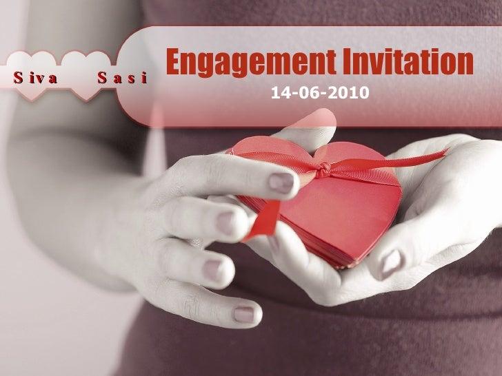 Engagement invitation engagement invitation 14 06 2010 siva sasi stopboris Choice Image