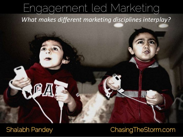 Engagement led Marketing What makes different marketing disciplines interplay? Shalabh Pandey ChasingTheStorm.com