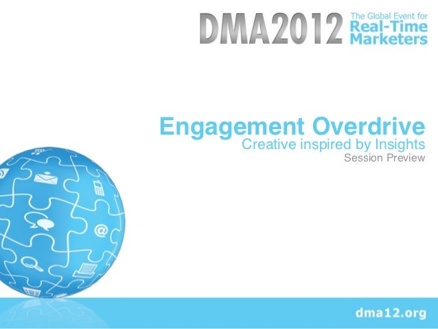 Engagement Overdrive      Creative inspired by Insights                      Session Preview