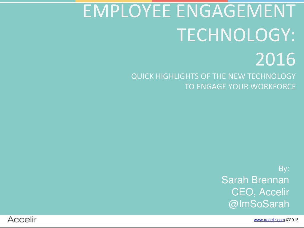 2016 Trends in Employee Engagement Technology