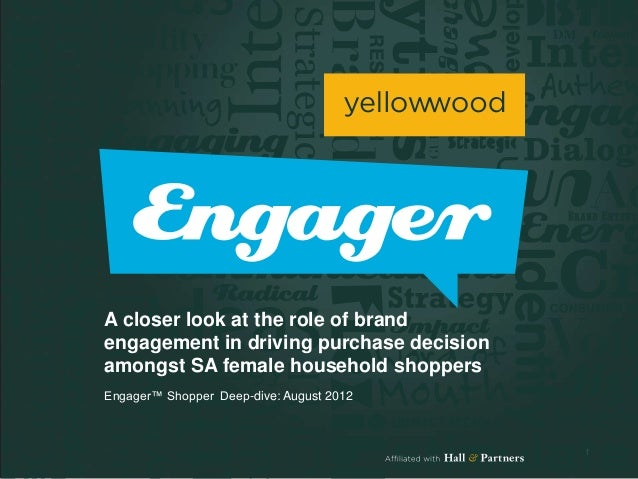 A closer look at the role of brandengagement in driving purchase decisionamongst SA female household shoppersEngager™ Shop...