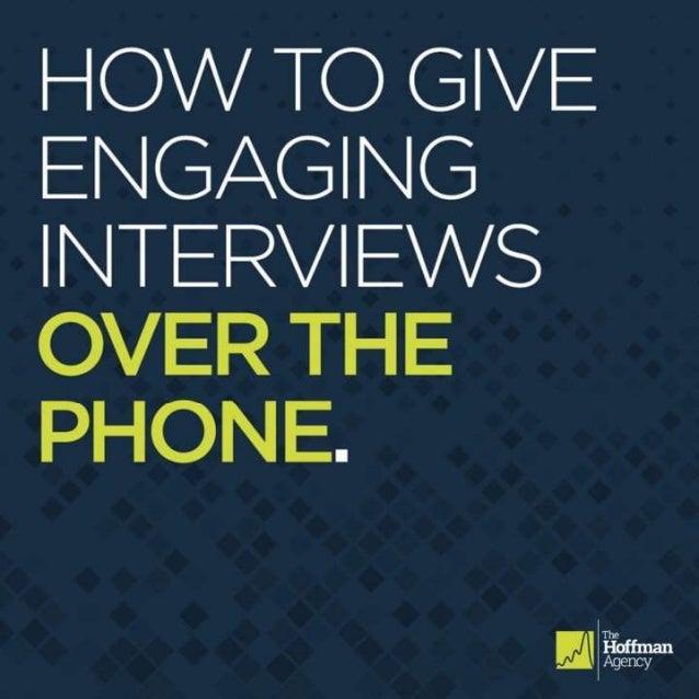 Engaging Interviews