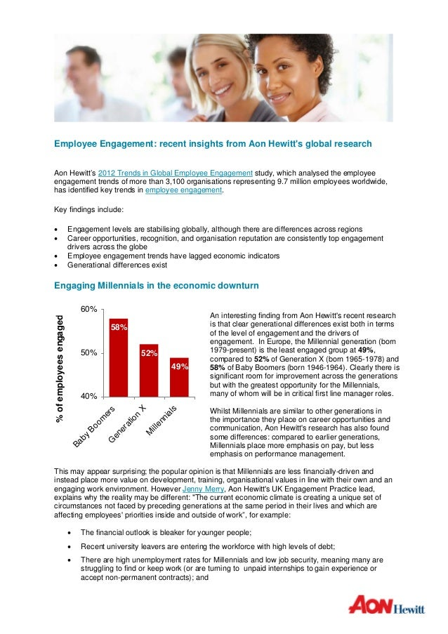 Employee Engagement: recent insights from Aon Hewitts global researchAon Hewitt's 2012 Trends in Global Employee Engagemen...