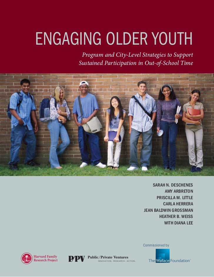 february 2010ENGAGiNG OLdEr YOuTH      Program and City-Level Strategies to Support     Sustained Participation in Out-of-...