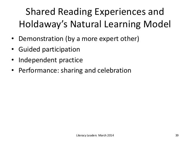Holdaway S Natural Learning Model