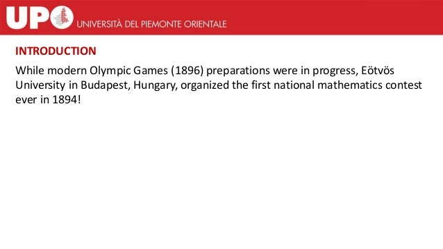 While modern Olympic Games (1896) preparations were in progress, Eötvös University in Budapest, Hungary, organized the fir...