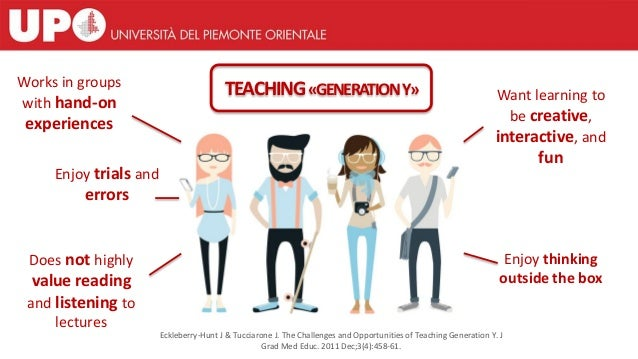 TEACHING«GENERATIONY»Works in groups with hand-on experiences Enjoy trials and errors Does not highly value reading and li...