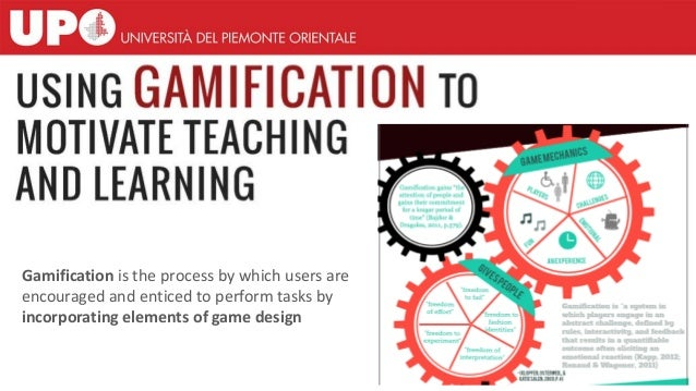 Gamification is the process by which users are encouraged and enticed to perform tasks by incorporating elements of game d...
