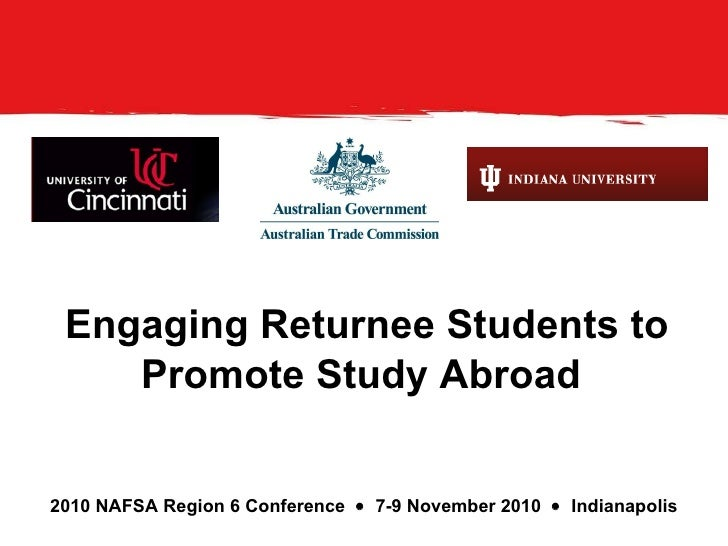 Engaging Returnee Students To Market Study Abroad