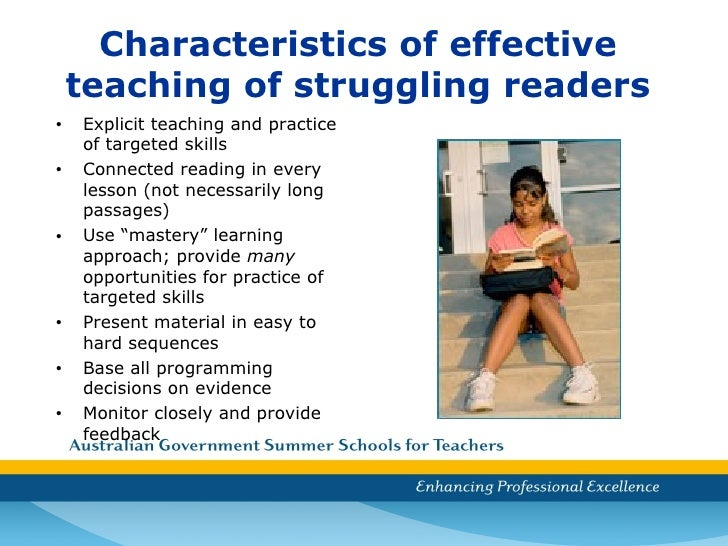 characteristics of good readers The sections that follow focus on good reader characteristics and discuss poor characteristics only when necessary to clarify the good characteristics many variables are related to the topic, such as situational and personal factors however, this paper is limited to a discussion of readers.