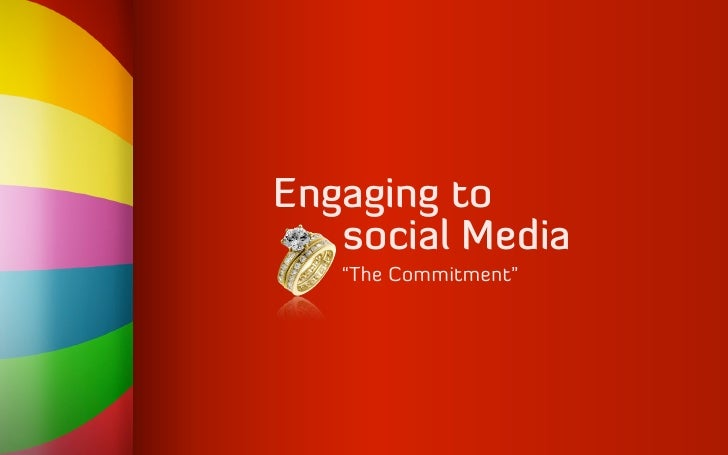 """Engaging to    social Media    """"The Commitment"""""""