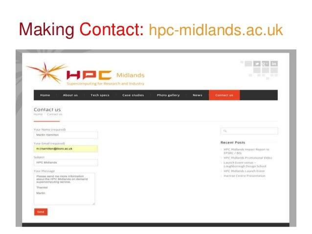 Visiting UsHPC Midlands is based at theLoughborough University Scienceand Enterprise Park