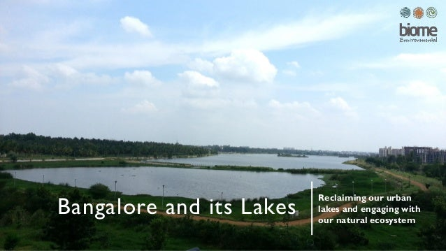 Bangalore and its Lakes Reclaiming our urban lakes and engaging with our natural ecosystem