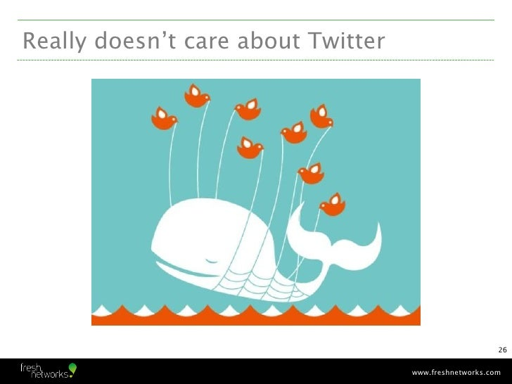 Really doesn't care about Twitter                                                        26                               ...