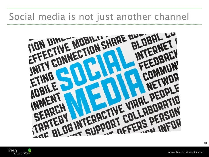Social media is not just another channel                                                       30                         ...